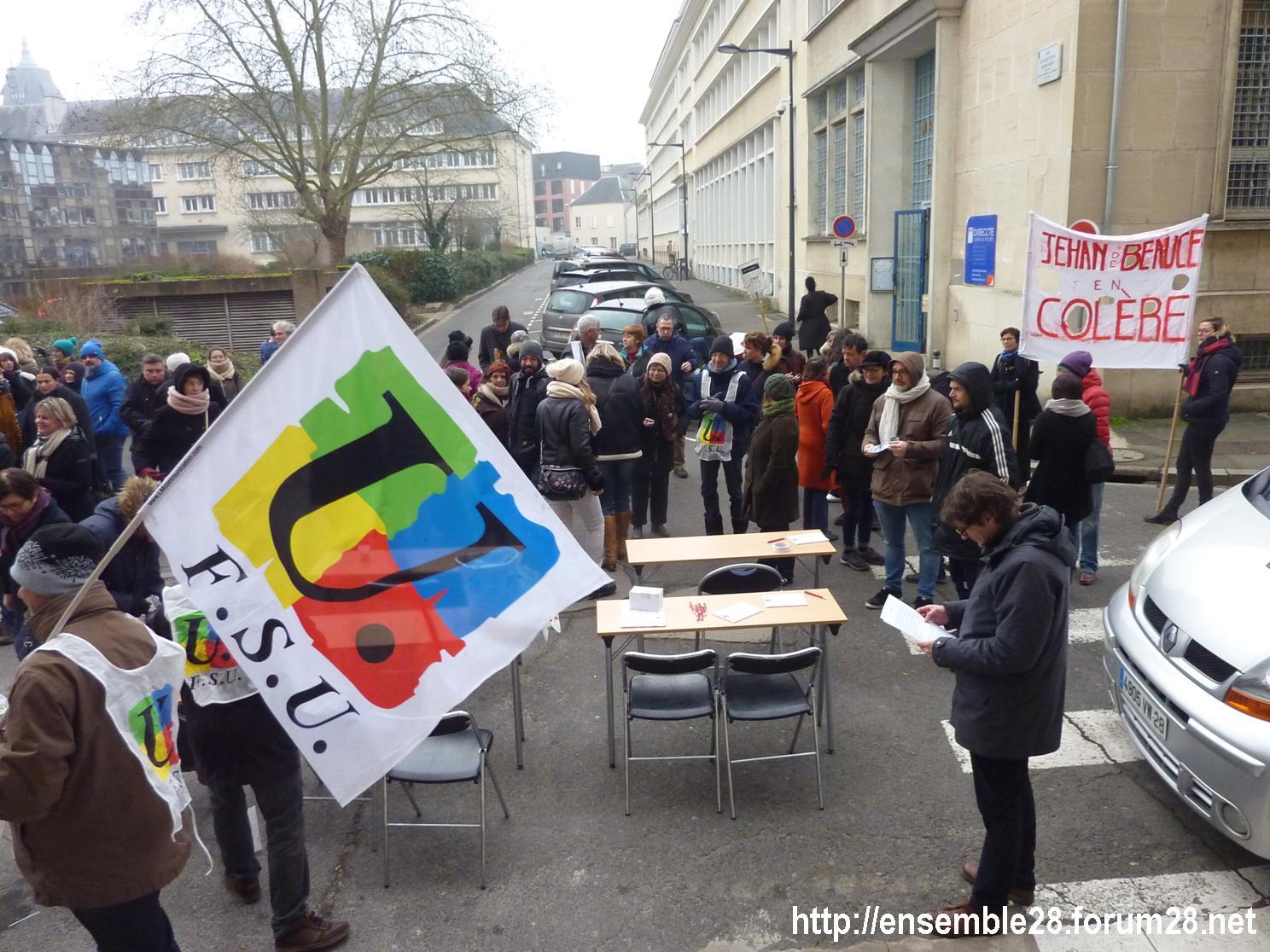Chartres DSDEN 24-01-2020 Rassemblement La coupe est plaine Carte-scolaire Retraites 11