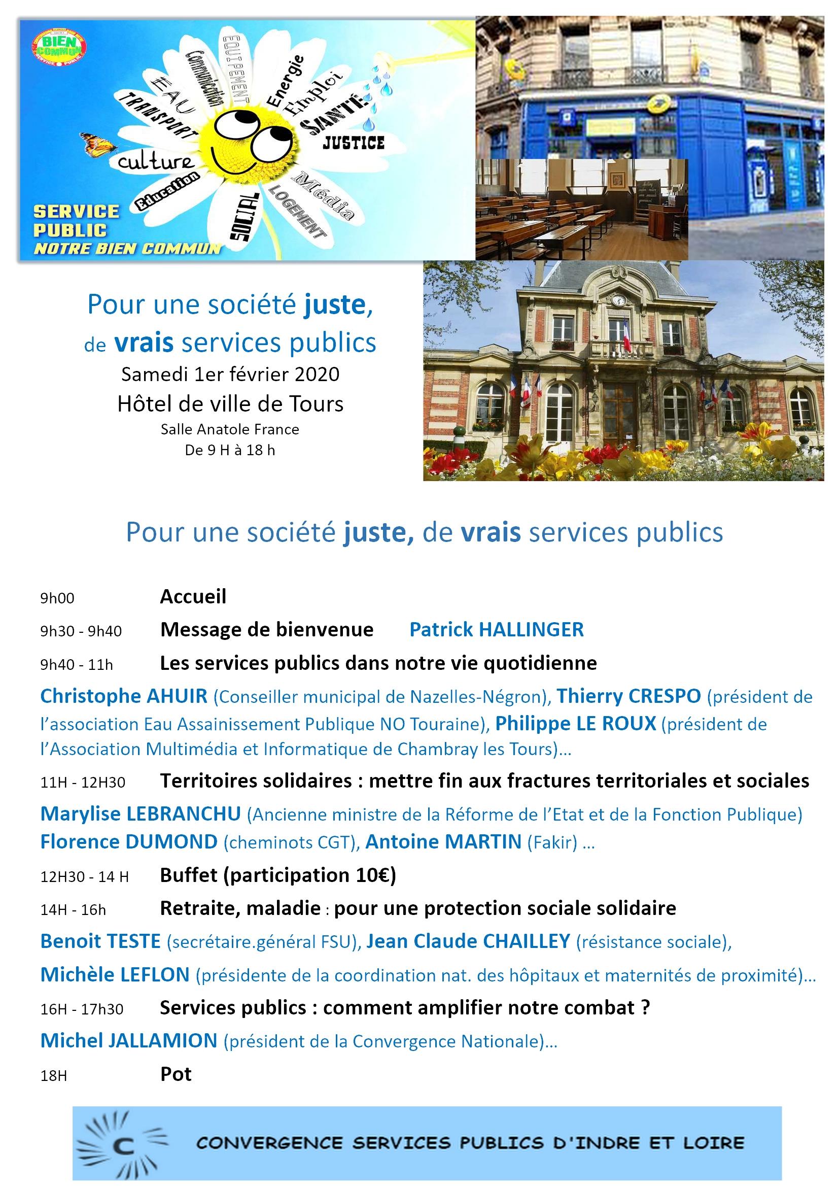 Journée Srvice publics Tours [Affiche]