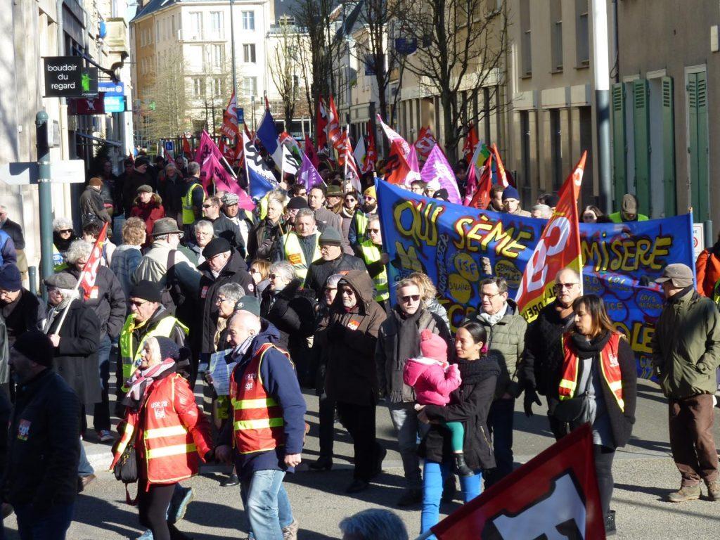 Chartres 06-02-2020 Manifestaion Retraites 00