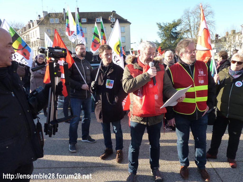 Chartres 06-02-2020 Manifestaion Retraites 01