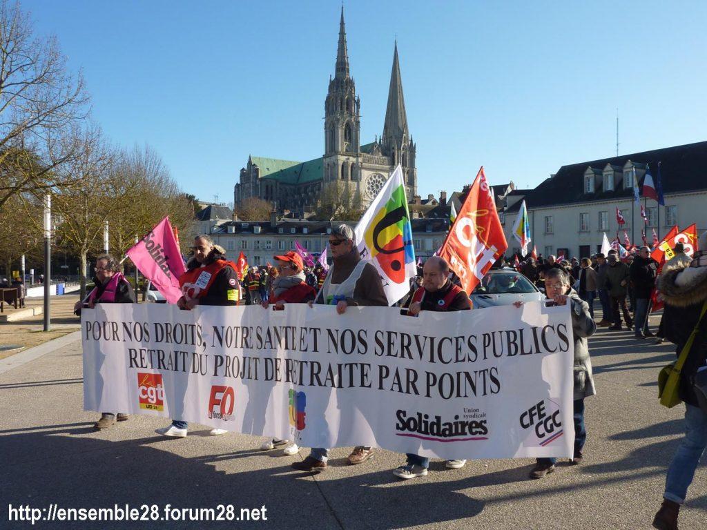 Chartres 06-02-2020 Manifestaion Retraites 02
