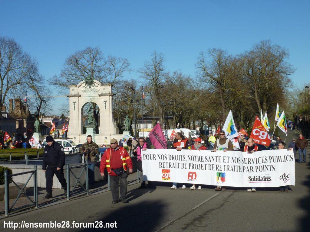 Chartres 06-02-2020 Manifestaion Retraites 04