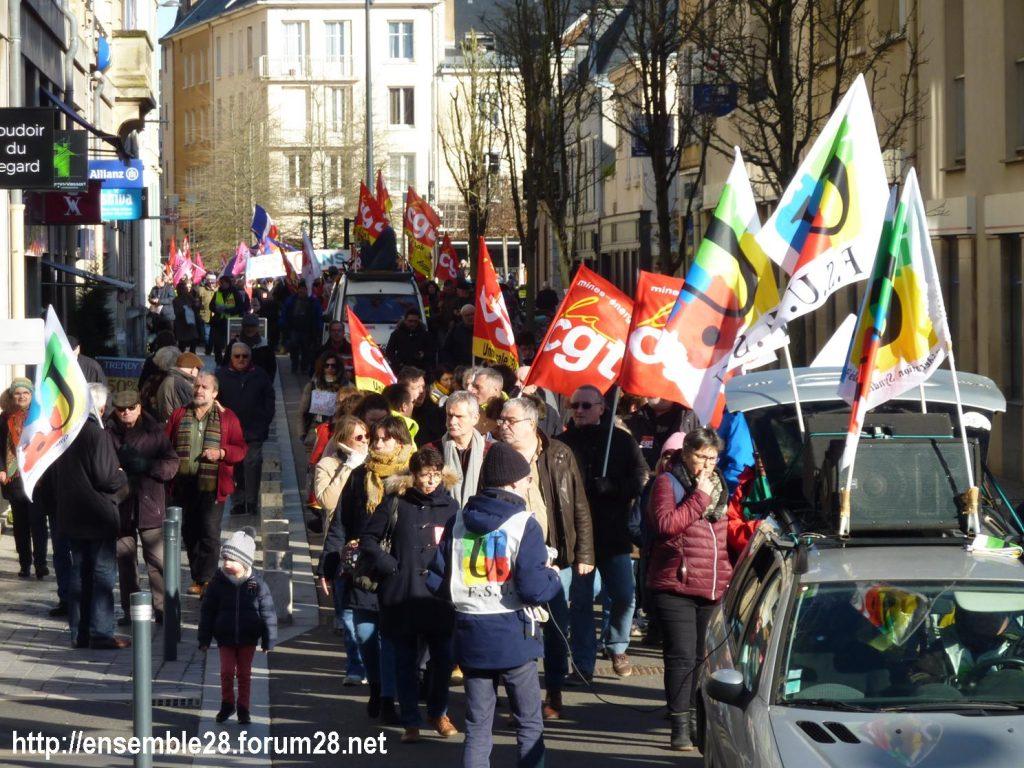 Chartres 06-02-2020 Manifestaion Retraites 05