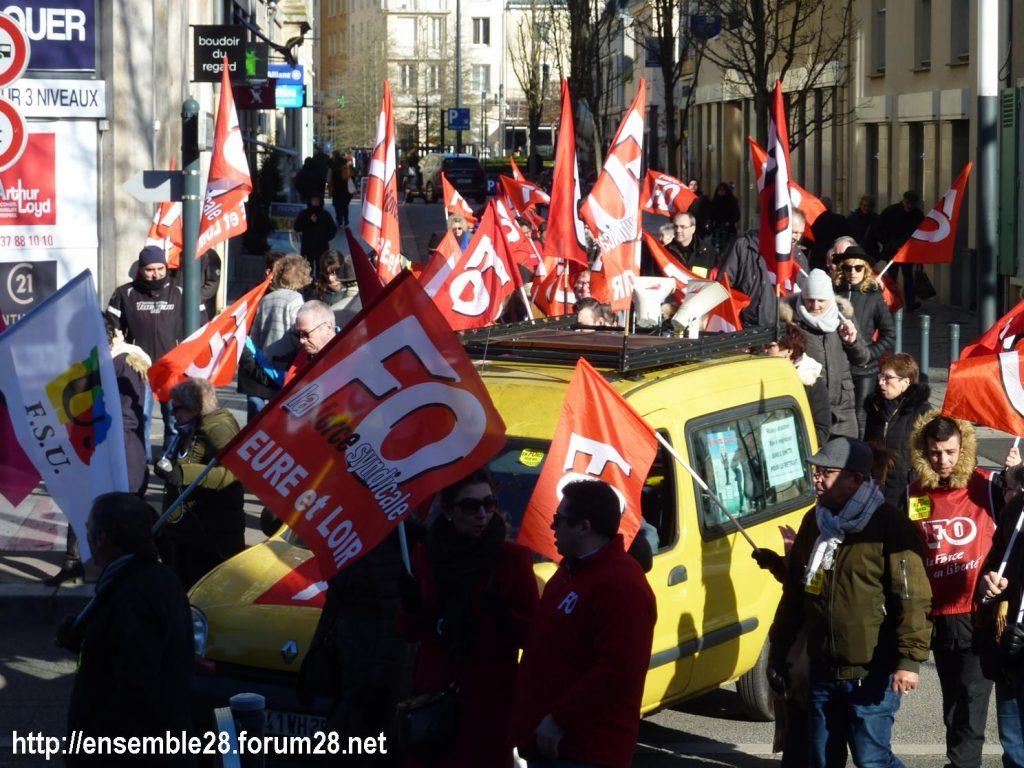 Chartres 06-02-2020 Manifestaion Retraites 07