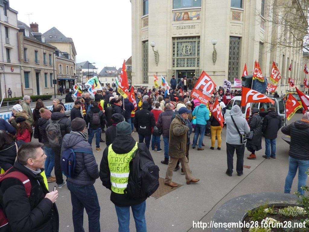 Chartres 20-02-2020 Rassemblement-Manifestation Retraites 01
