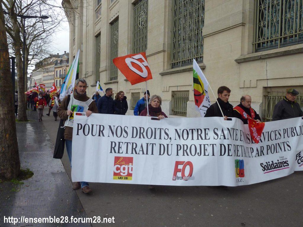 Chartres 20-02-2020 Rassemblement-Manifestation Retraites 02
