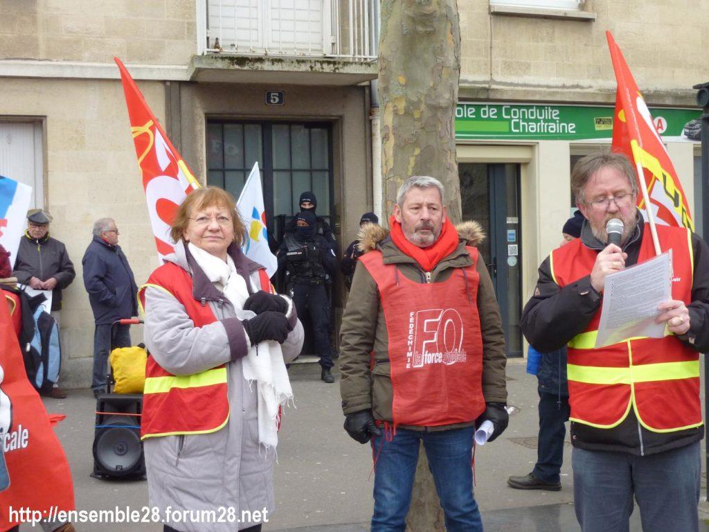 Chartres 20-02-2020 Rassemblement-Manifestation Retraites 07