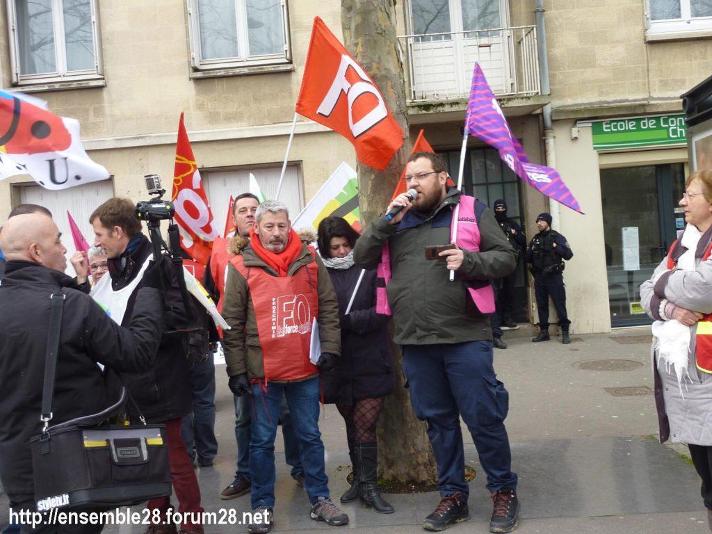 Chartres 20-02-2020 Rassemblement-Manifestation Retraites 10