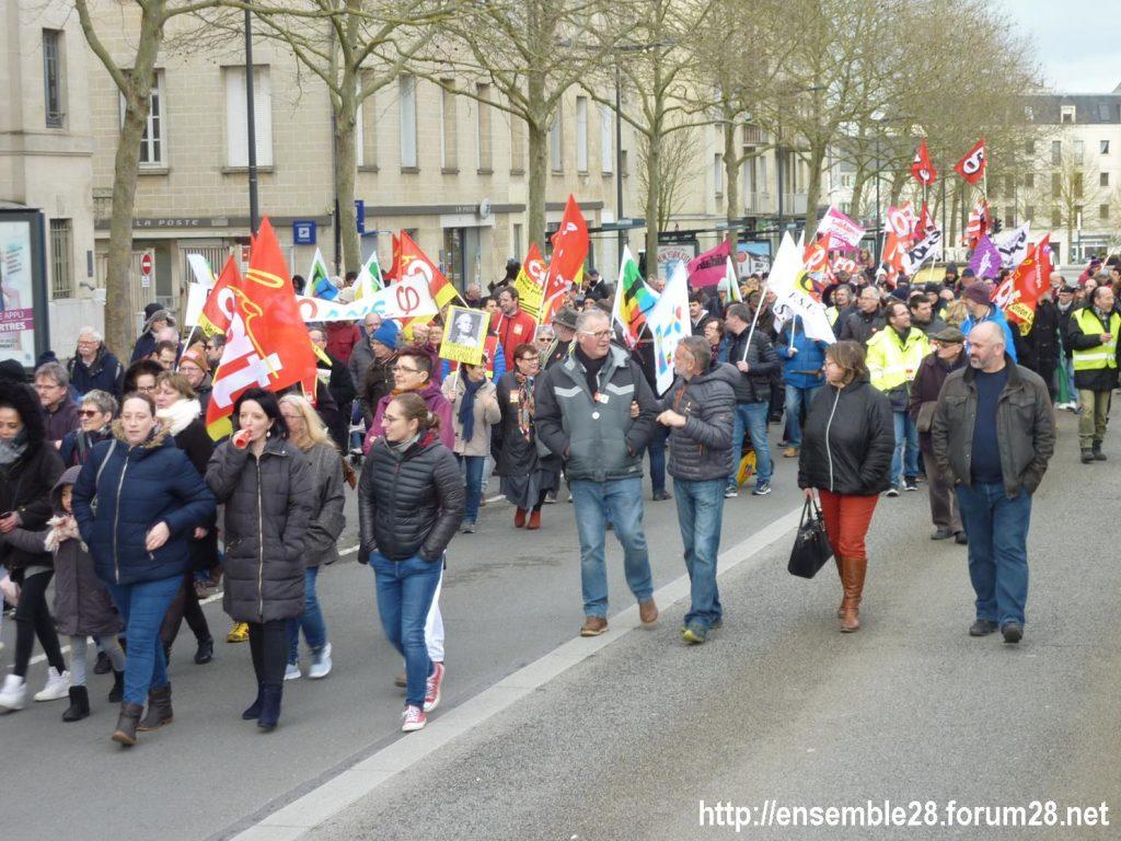 Chartres 20-02-2020 Rassemblement-Manifestation Retraites 11
