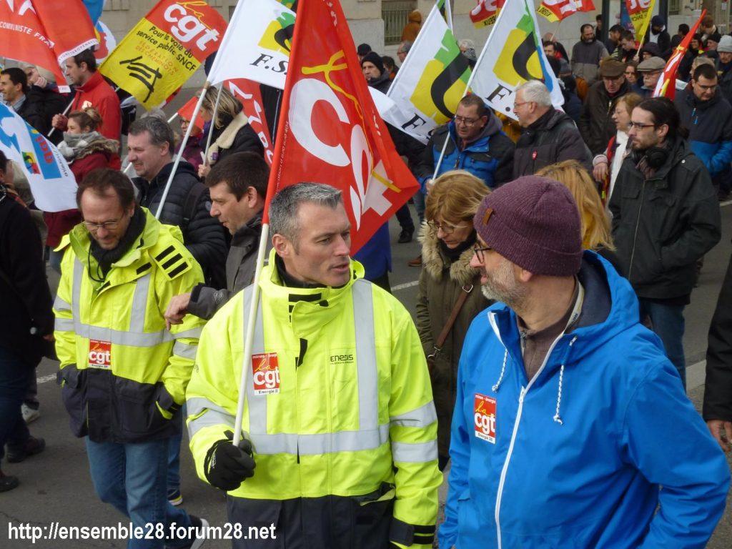 Chartres 20-02-2020 Rassemblement-Manifestation Retraites 12