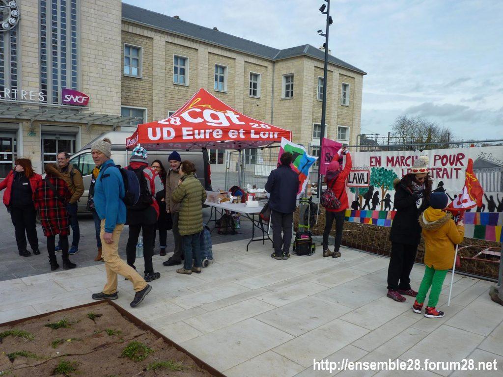 Chartres 22-02-2020 Marche Laval-Paris Retraites Pique-nique 03