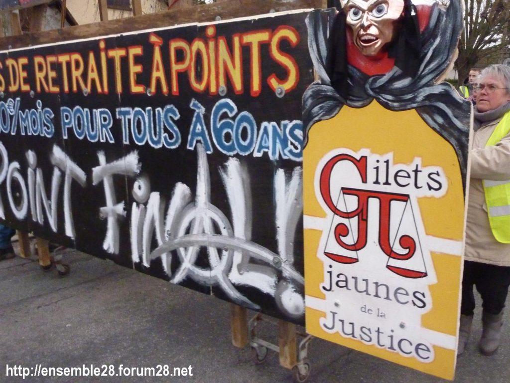 Dreux 01-02-2020 Manifestation Gilets Jaunes et Débat Retraites 03