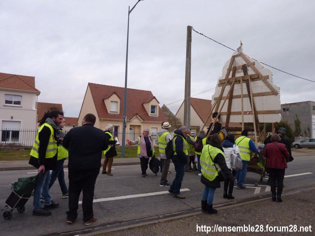 Dreux 01-02-2020 Manifestation Gilets Jaunes et Débat Retraites 04