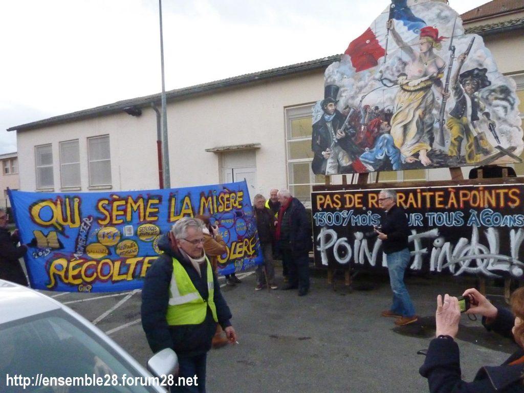 Dreux 01-02-2020 Manifestation Gilets Jaunes et Débat Retraites 05