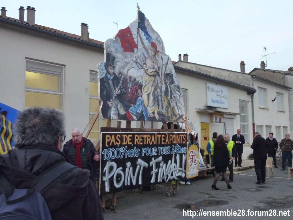 Dreux 01-02-2020 Manifestation Gilets Jaunes et Débat Retraites 07