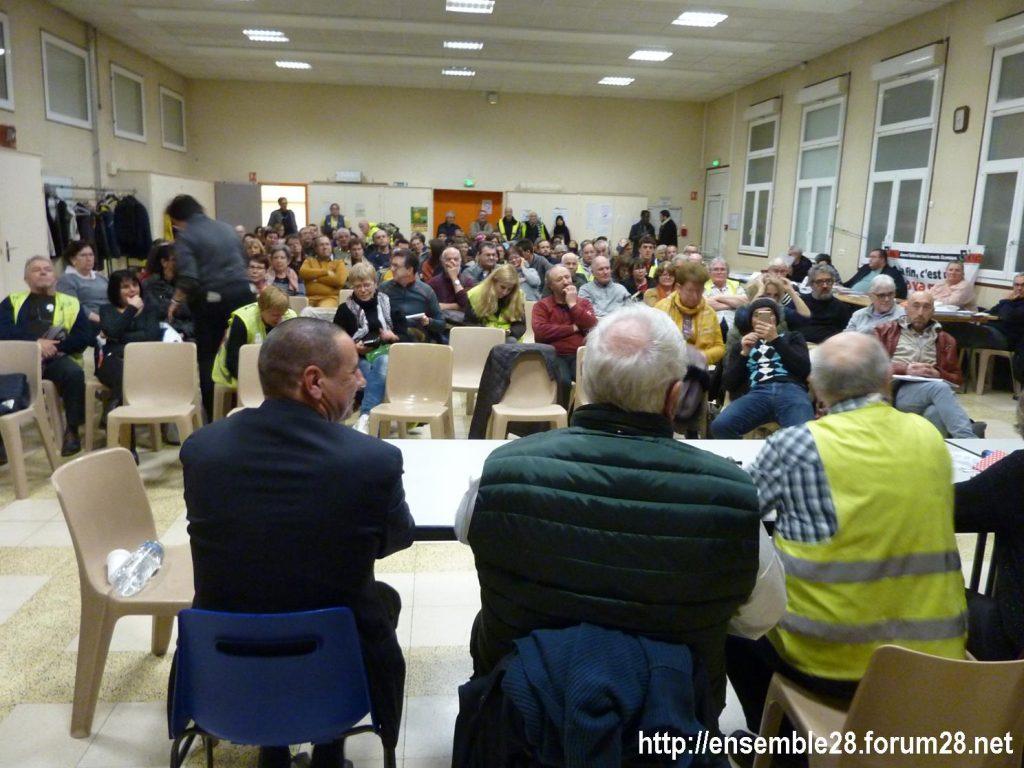 Dreux 01-02-2020 Manifestation Gilets Jaunes et Débat Retraites 08
