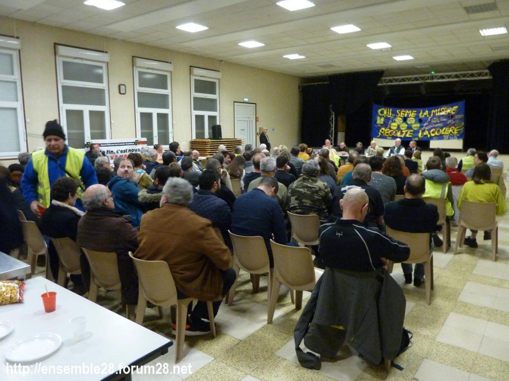 Dreux 01-02-2020 Manifestation Gilets Jaunes et Débat Retraites 09