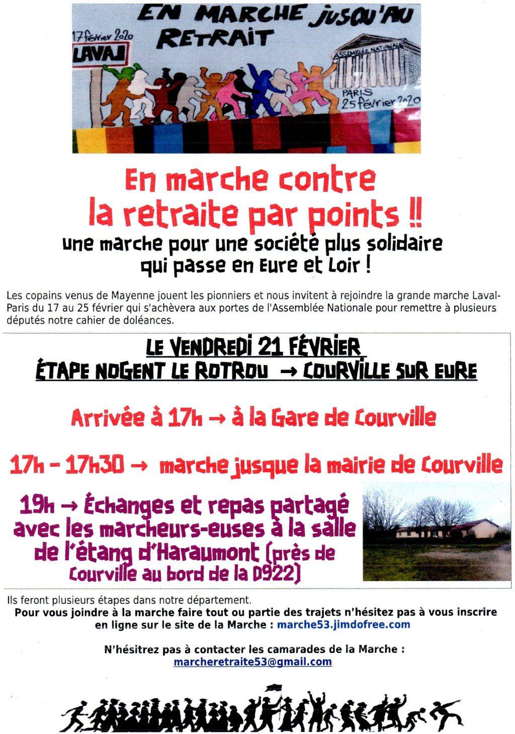 Marche 53 Tract étape de Courville