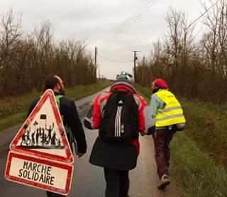 Marche Laval-Paris Sur la route vers La Ferté-Bernard 19-02-2020