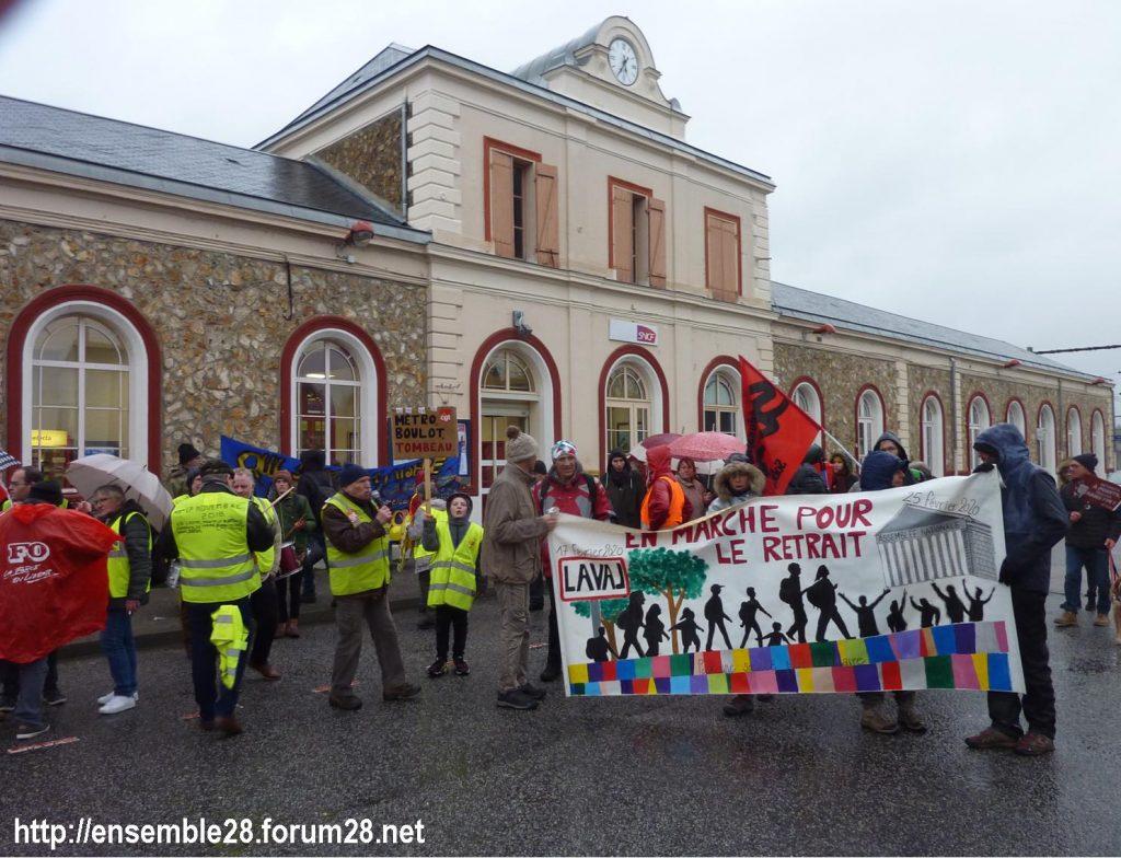 Nogent-le-Rotrou 20-02-2020 Marche Laval-Paris jusqu'au le Retrait 01