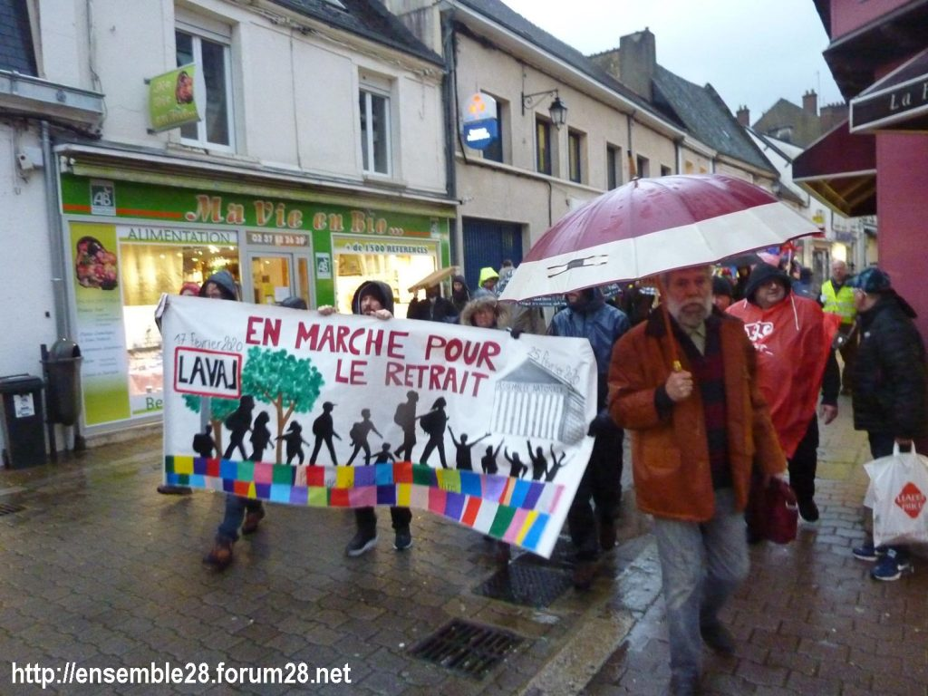 Nogent-le-Rotrou 20-02-2020 Marche Laval-Paris jusqu'au le Retrait 04