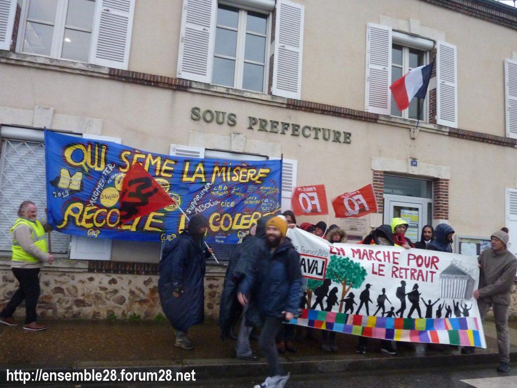 Nogent-le-Rotrou 20-02-2020 Marche Laval-Paris jusqu'au le Retrait 05