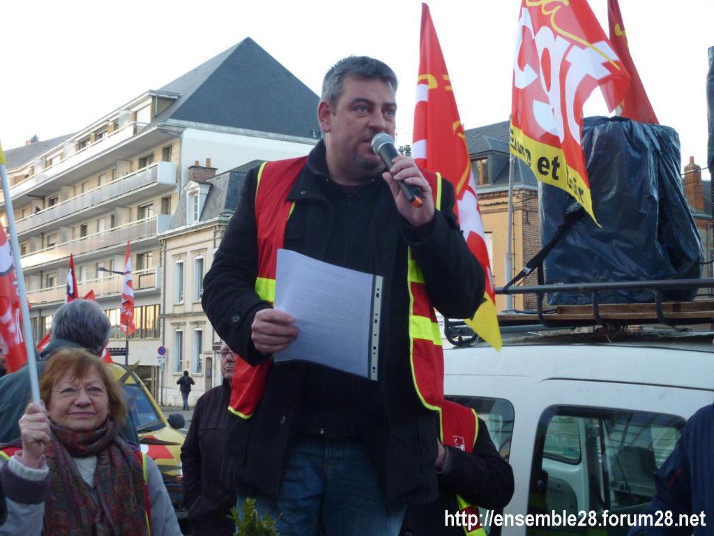 Chartres 03-03-2020 Rassemblement 49.3 Retraites 6