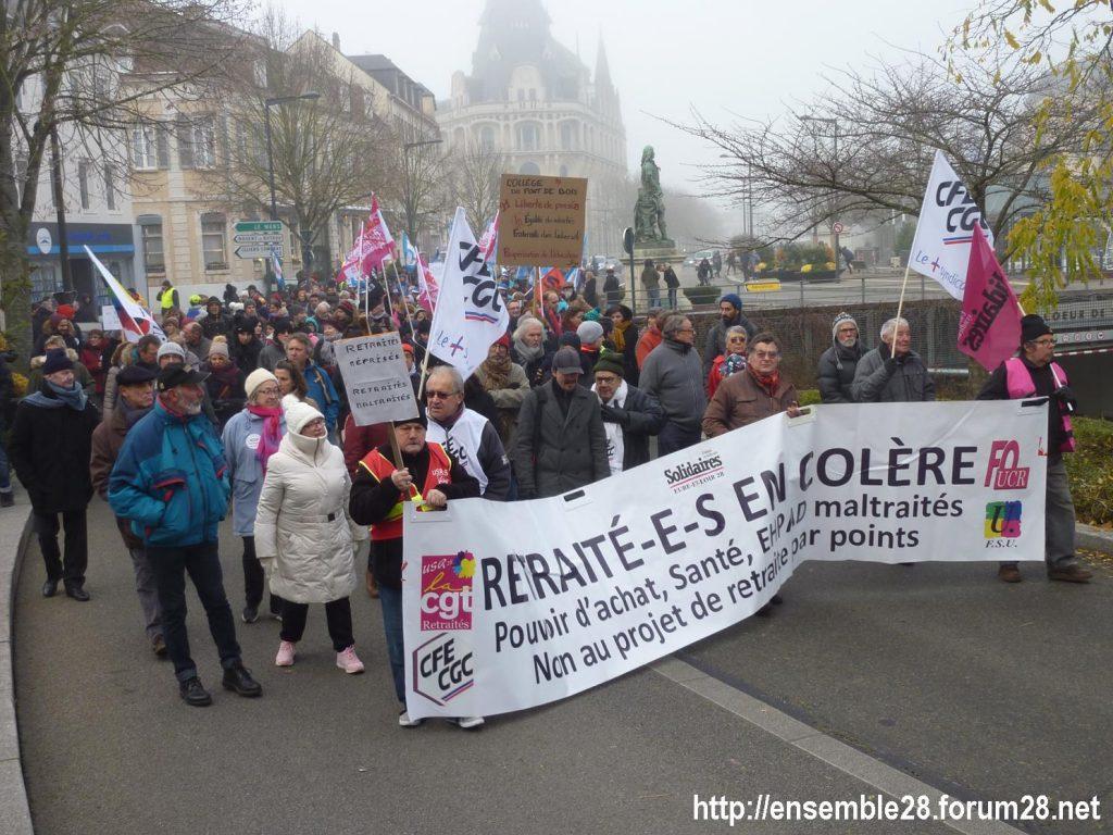 Chartres 05-02-2020 Manifestation Retraites 21