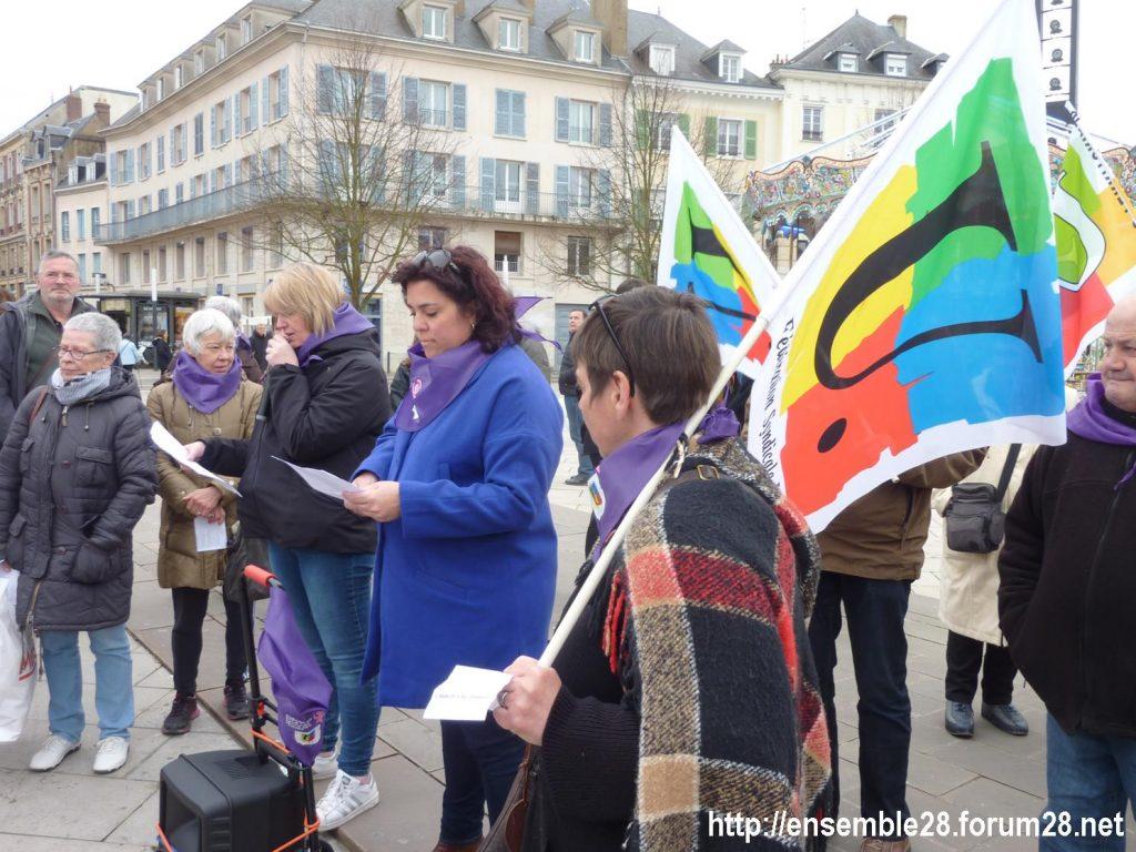 Chartres 07-03-2020 Droits des Femmes Hymne 02