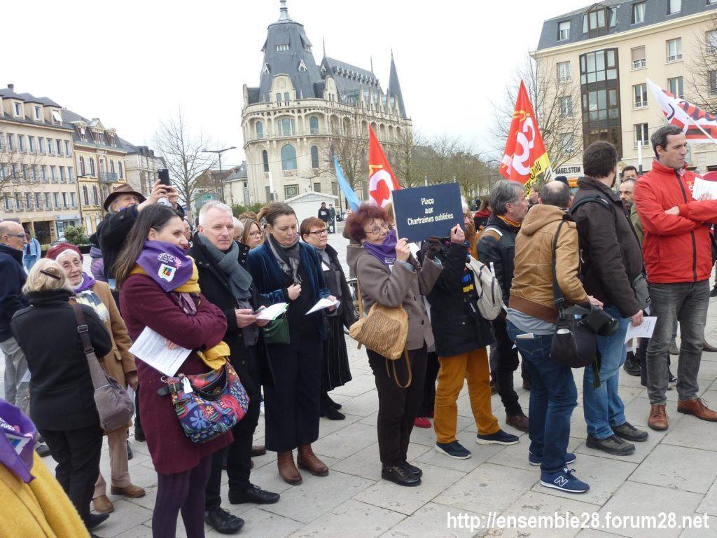 Chartres 07-03-2020 Droits des Femmes Hymne 03