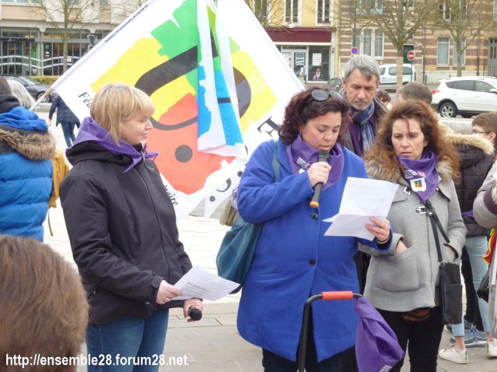 Chartres 07-03-2020 Droits des Femmes Hymne 04