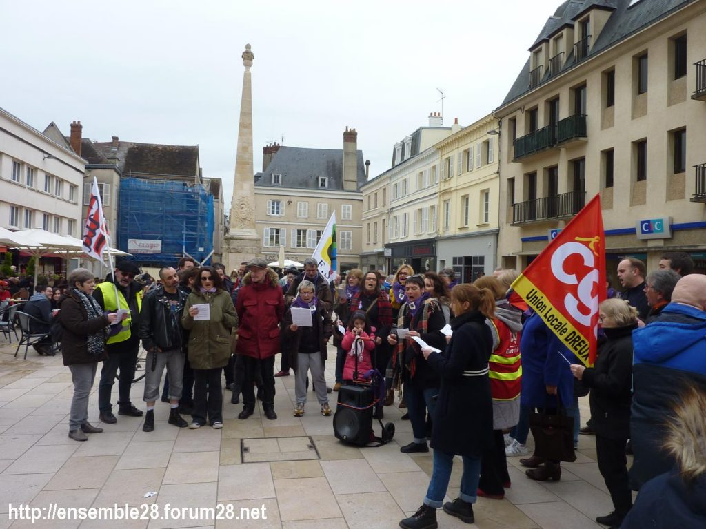 Chartres 07-03-2020 Droits des Femmes Hymne 05