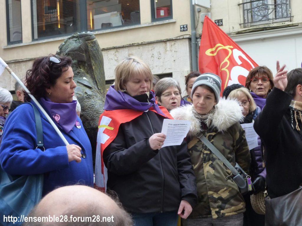 Chartres 07-03-2020 Droits des Femmes Hymne 08