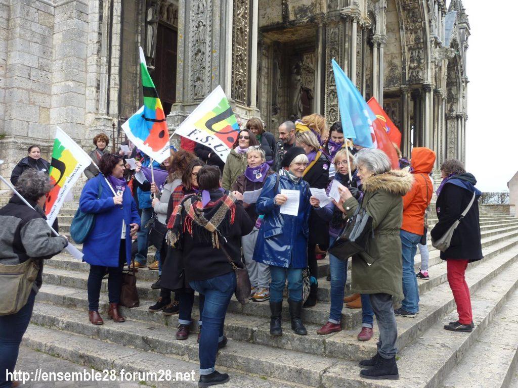 Chartres 07-03-2020 Droits des Femmes Hymne 09