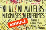 Marche contre les CRA, Orléans 04-04-2020 [Affiche tronquée ANNULÉ]
