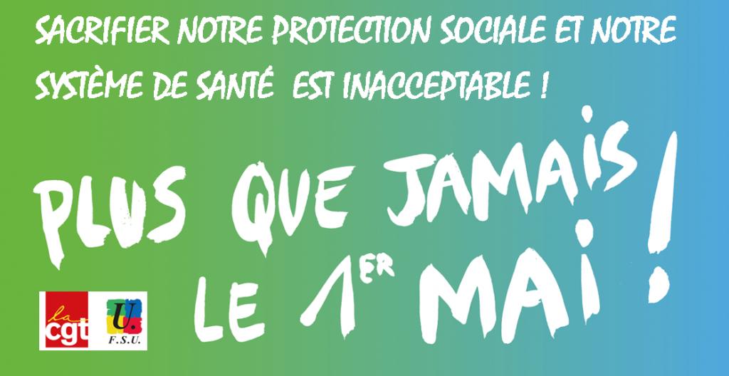 CGT FSU visuel-1er-mai-protection-sociale