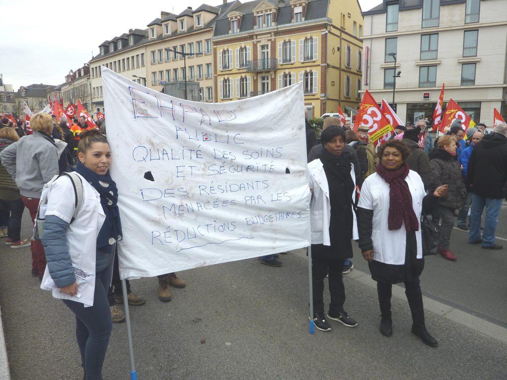 Chartres 22-03-2018 Manifestation Fonction publique