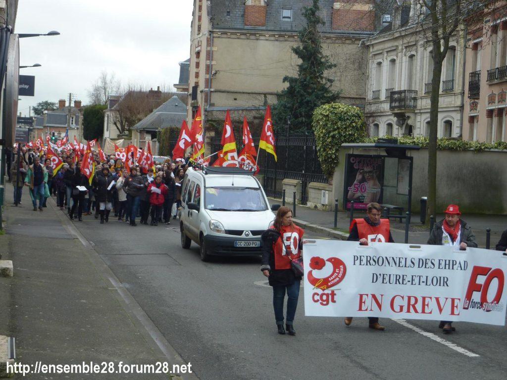Chartres 30-01-2019 Manifestation des EHPAD