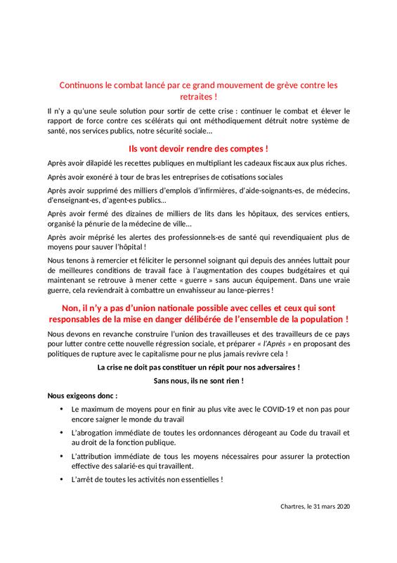 Communiqué E&L CGT-Éduc-action CGT Cheminots Solidaires-28 2x2