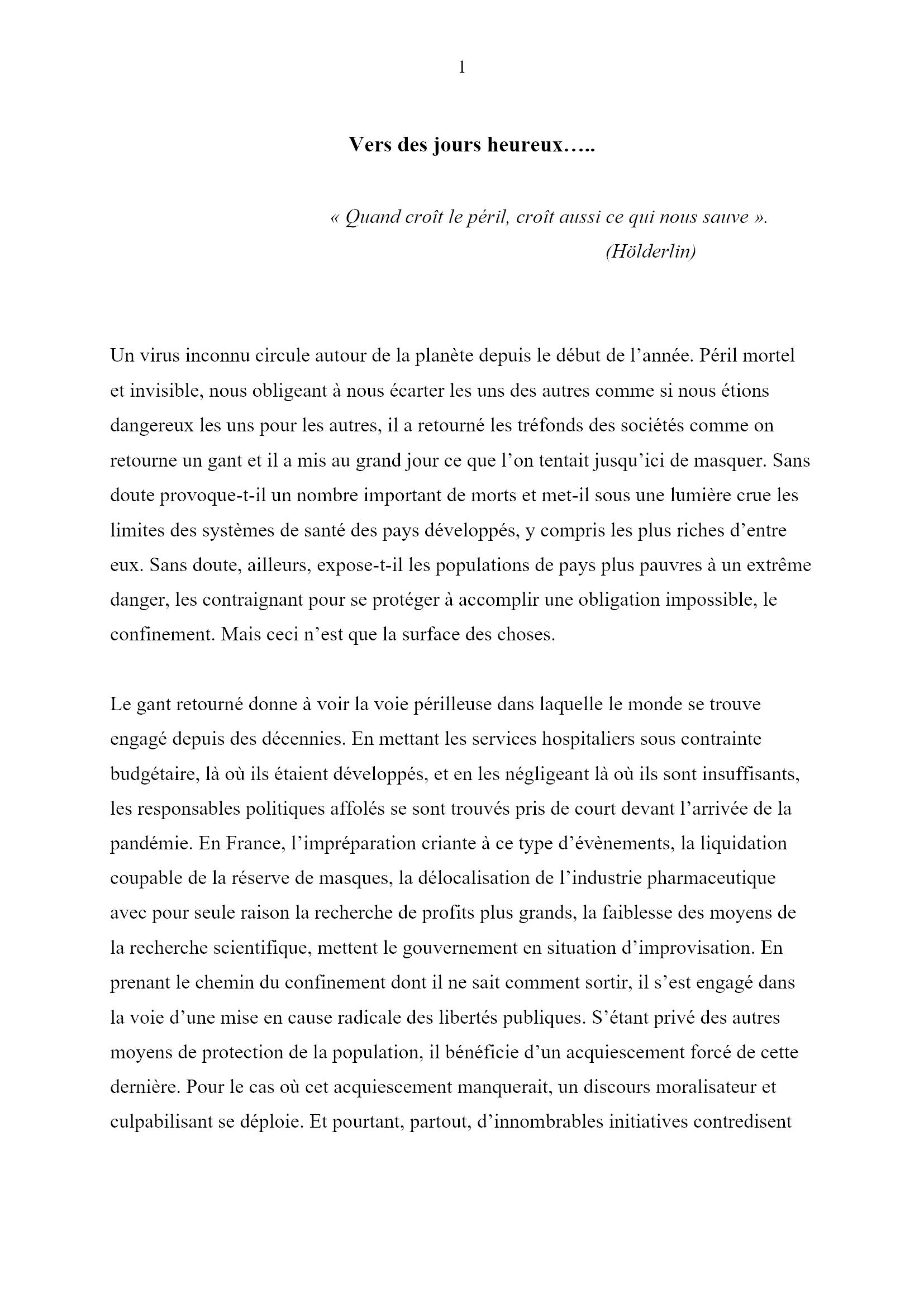 Des jours heureux... Monique Chemillier-Gendreau 1x16