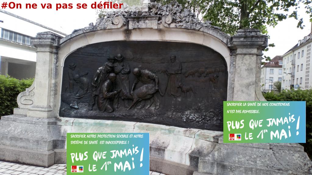 § Chartres, Monument Pasteur 1er mai 2020