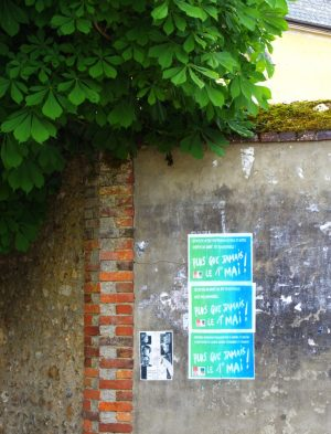 @ Affichage à Saint-Aubin-des-Bois 1er Mai 2020