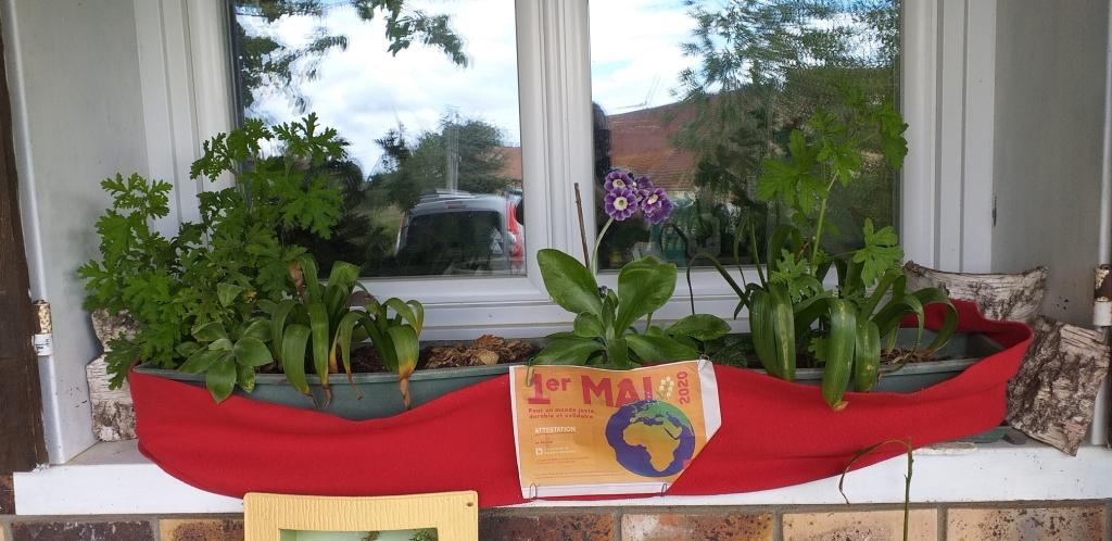 @ Un appui de fenêtre à Saint-Aubin-des-Bois 1er Mai 2020