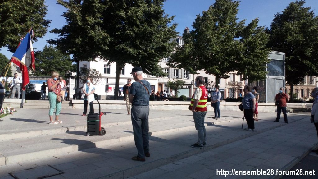 Chartres 27-05-2020 Cérémonie PCF Jean-Moulin CNR 3