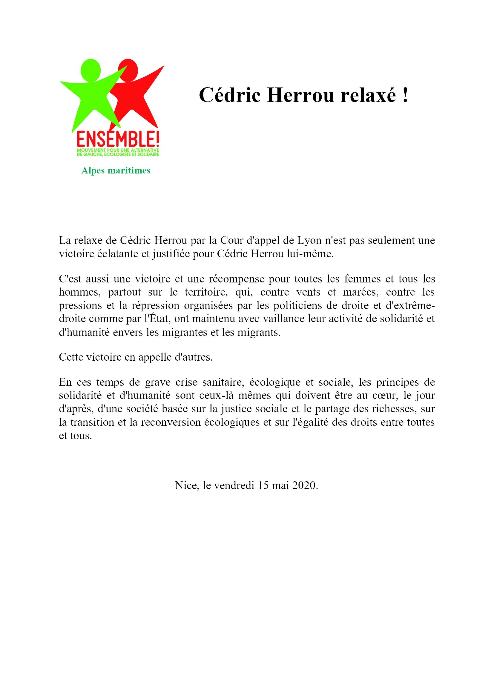 ComPress Ensemble-06 15-05-2020 Cédric Herrou relaxé