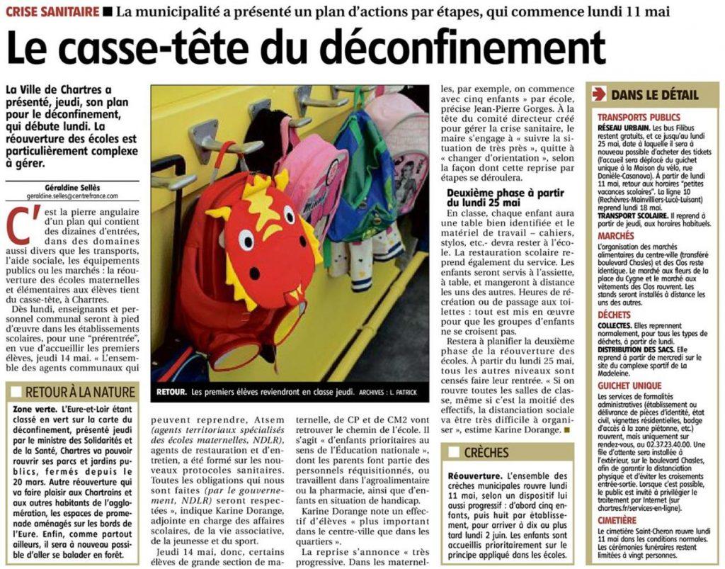 ER 2020-05-09 p7 Chartres Coronavirus Déconfinement Écoles
