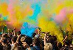 Foule multicolore