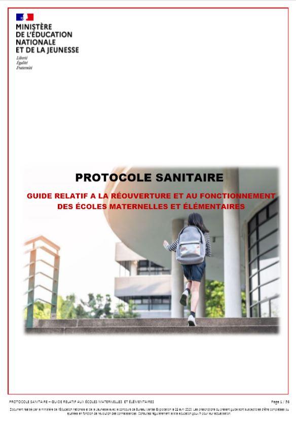 Protocole sanitaire Écoles [couverture]