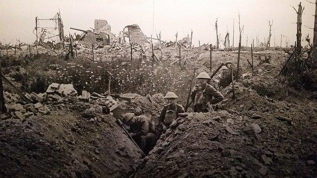 Tranchée anglaise 1914-1918
