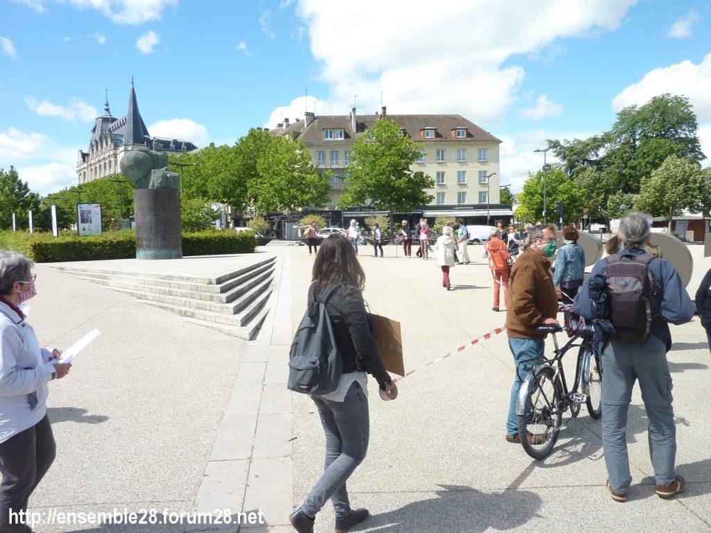 Chartres 13-06-2020 Chaîne AERéSP Régularisation des Sans-Papiers 4
